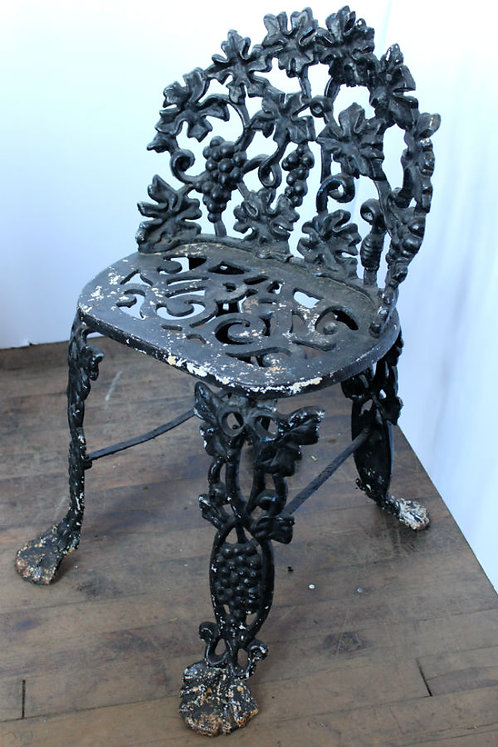 Black Wrought Iron Garden Chair