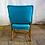 Thumbnail: Aqua Blue and Wood Armchairs