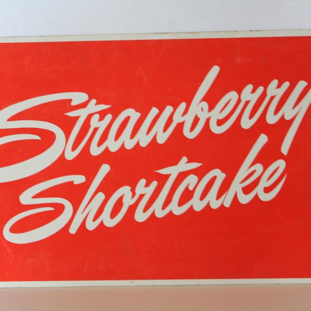 Strawberry Shortcake Sign