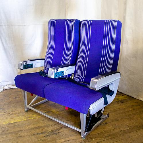Plane Seats three quarters view