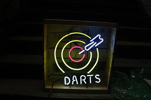 Darts Multicolored Neon Sign