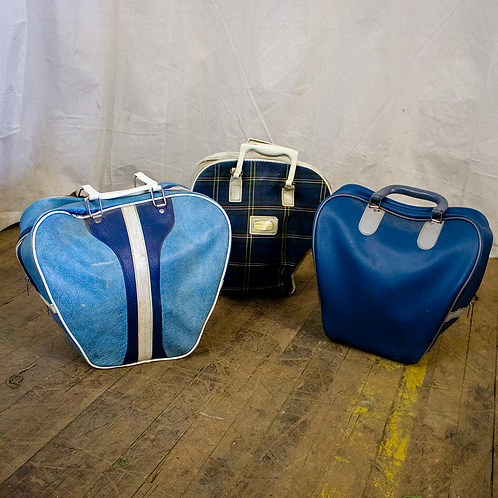 Blue Vinyl Bowing Bags