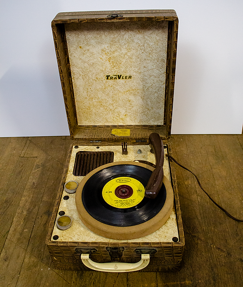 Brown Traveler Portable Record Player