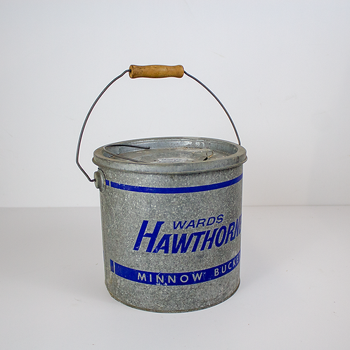 Silver Hawthords Minnow Bucket