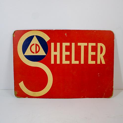 Civil Defense Shelter Sign