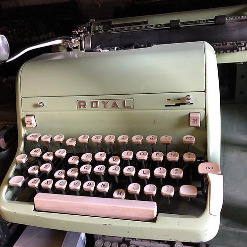 Mint Green Royal Typewriter