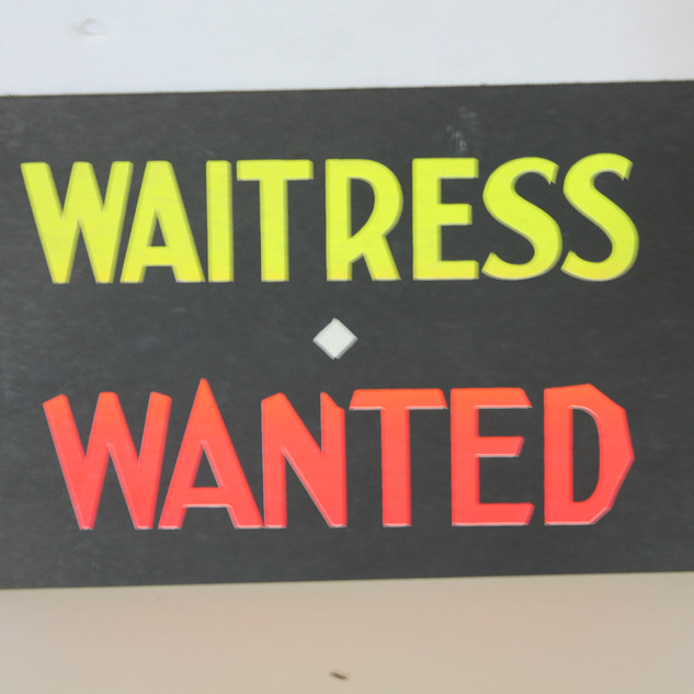 Waitress Wanted