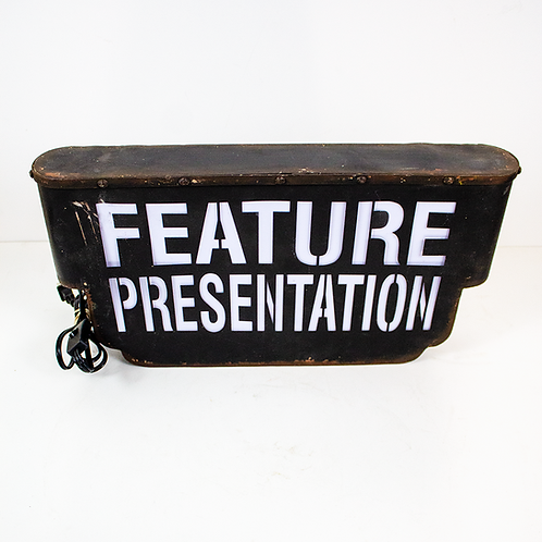 Feature Presentation Sign