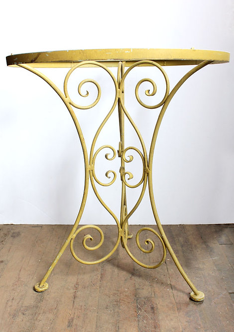Yellow Metal Table