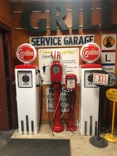 White Gasoline Pumps