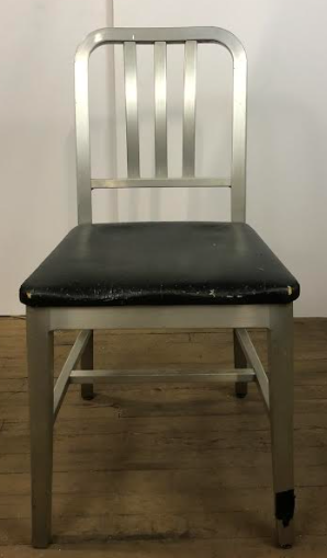 Barred Back Black Seat Office Chair Steelcase