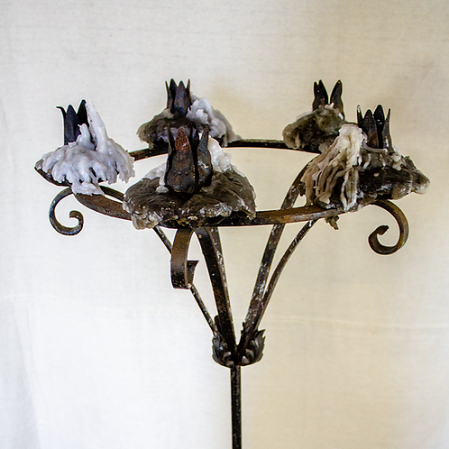 Ring Top Standing Candelabra