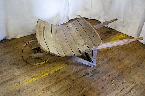 Wooden Rustic Wheelbarrow
