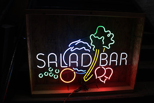 Salad Bar Multicolored Neon Sign