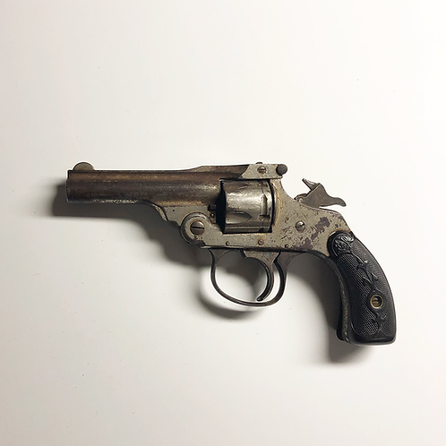Left Side View of Small Antique Revolver