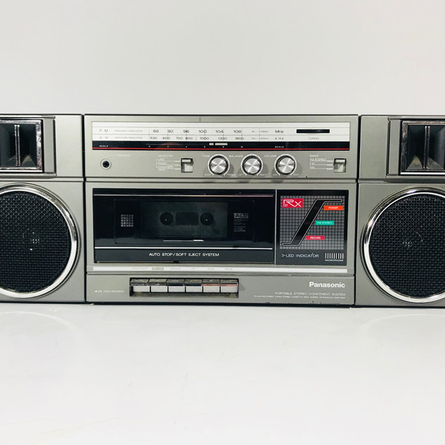 Panasonic Boom box with cassette tape player recorder