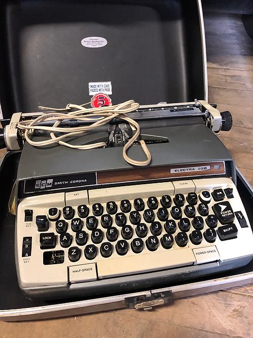 Grey Smith Corona Typewriter Electra 220