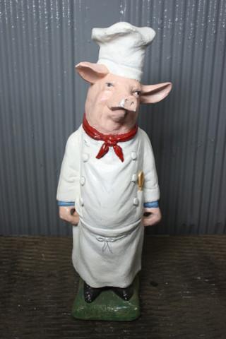 Hog Chef, Pig Statue