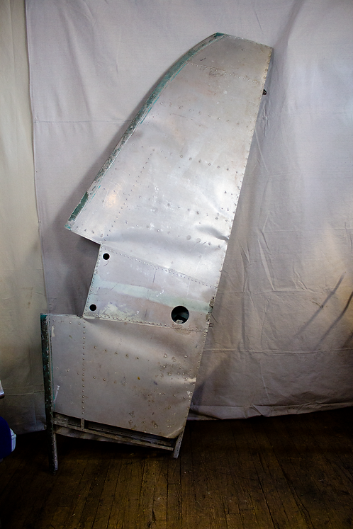 Silver Metal Plane Wing