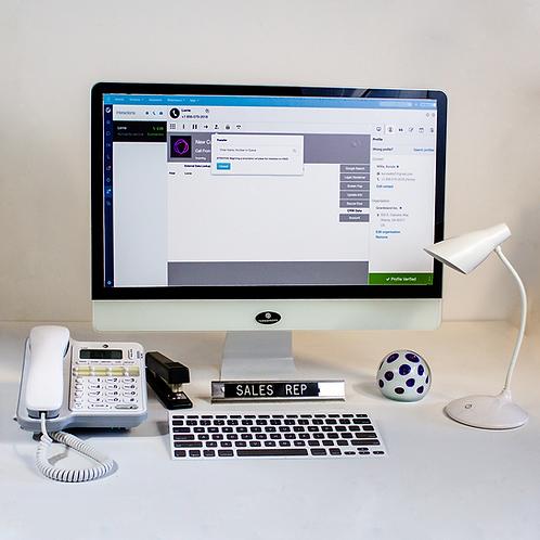 Contemporary Computer Monitor Setup