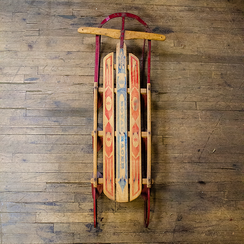 Royal Racer Wooden Sled with Metal Runners
