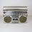 Thumbnail: Silver Panasonic Boombox