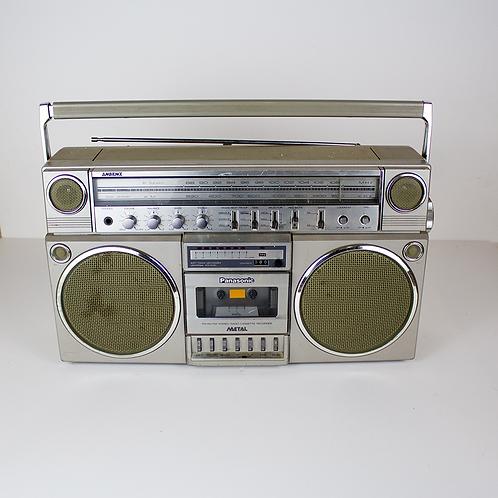 Silver Panasonic Boombox