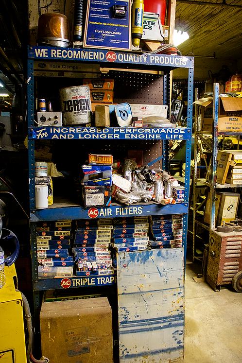 Auto Shop Blue Shelf Rack