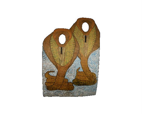 Vintage Wooden Carnival Cutout - Cobras
