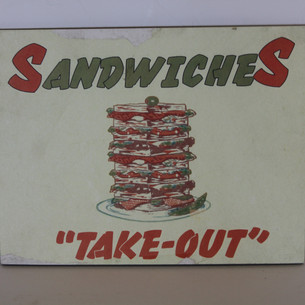 Sandwiches Take-out, Carry-out, sign