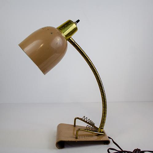 Beige Gooseneck Desk Lamp