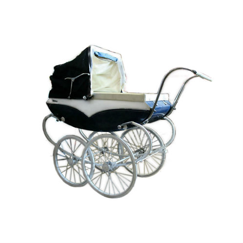 Blue Pram Baby Carriage