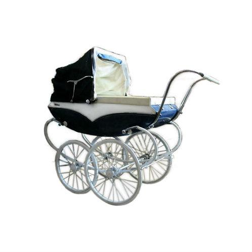 Blue Pram Baby Carriage