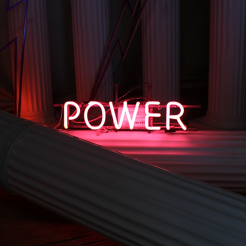 Power Pink Neon Sign