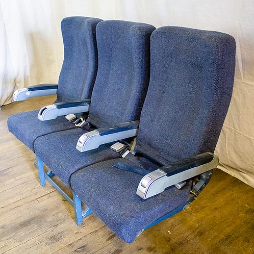 Blue Airplane Seats (Bank of Three)