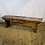 Thumbnail: Rustic Dark Wood Bench