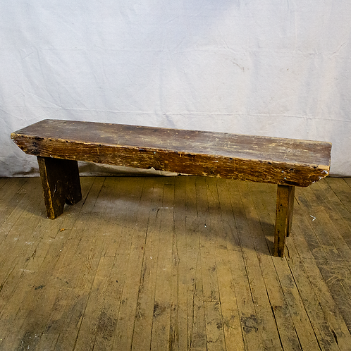 Rustic Dark Wood Bench