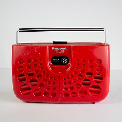 Red Panasonic Stereo 8-Track Player 1970s-1980s