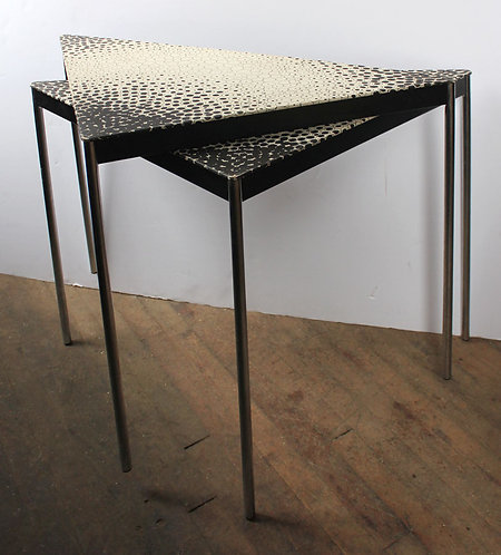 Triangular Stacked Side Table