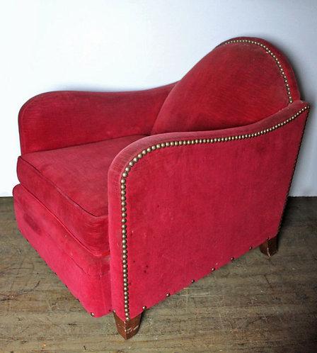 Red Plush Chair