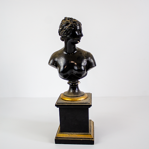 Bust Statue Black and Gold Woman