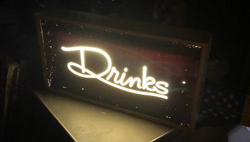 Drink Vintage Light up Sign