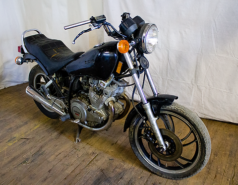 Black Yamaha Motorcycle