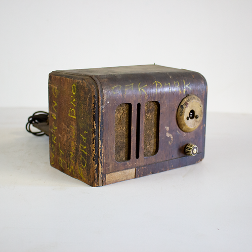 Old Tattered Wood Radio