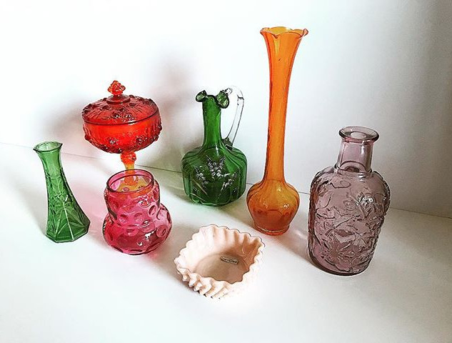 Assorted colored glass