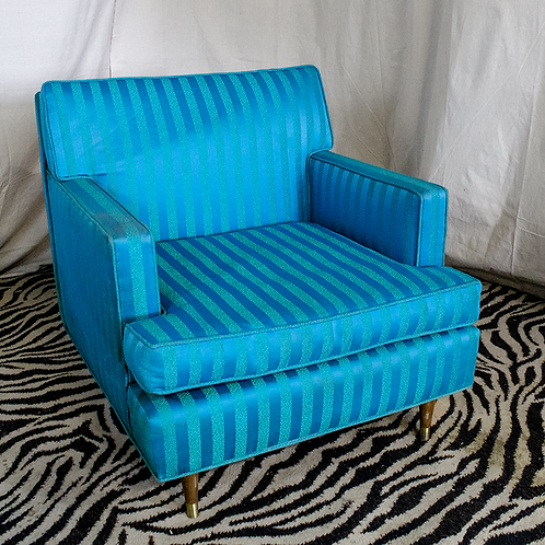 Blue Striped Armchair