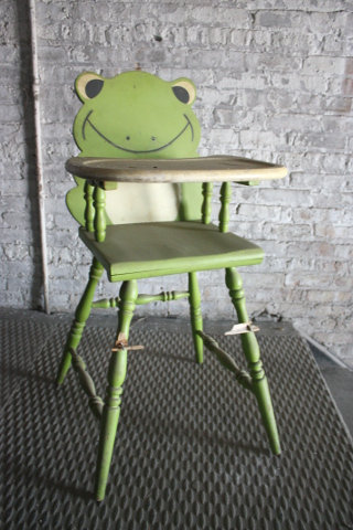 Green Frog Baby High Chair