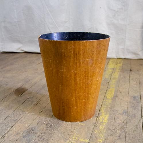 Faux Wood Waste Bin