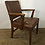 Thumbnail: Worn Brown Leather Office Arm Chair