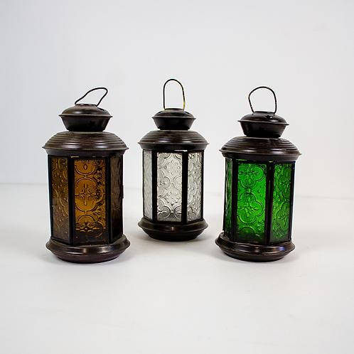 Colored Glass Votive Candle Lanterns